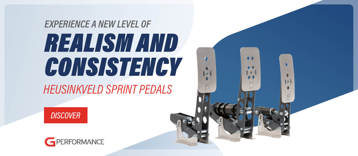 Heusinkveld Sprint pedals campaign - wide - G-Performance