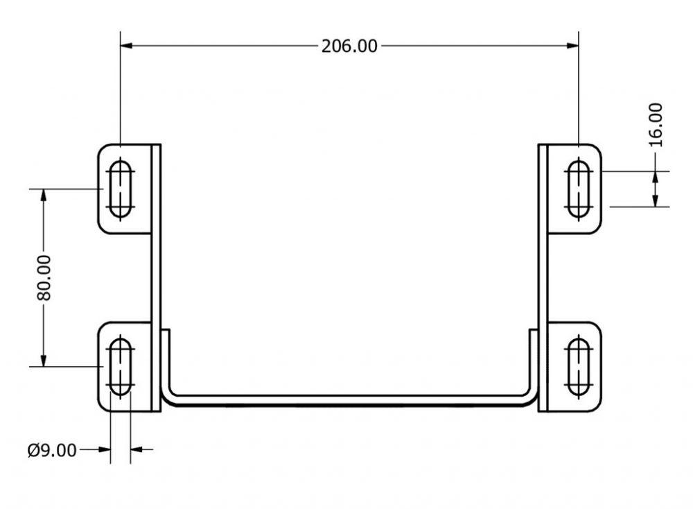 shop.gperformance.eu - Servo motor holder – Adjustable version - drawing