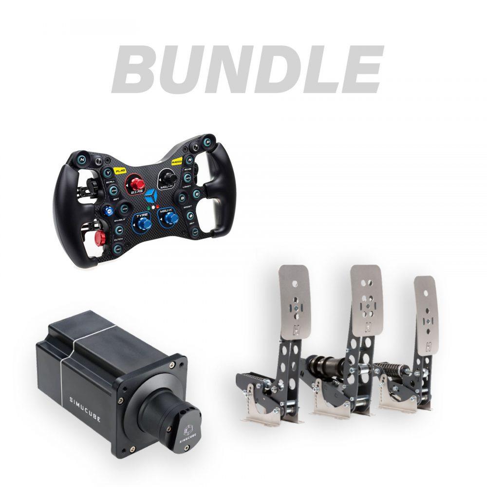 Bundle Cube Controls Formula Pro + Simucube 2 Pro + Heusinkveld Sprint pedals 3-pedal set - G-Performance