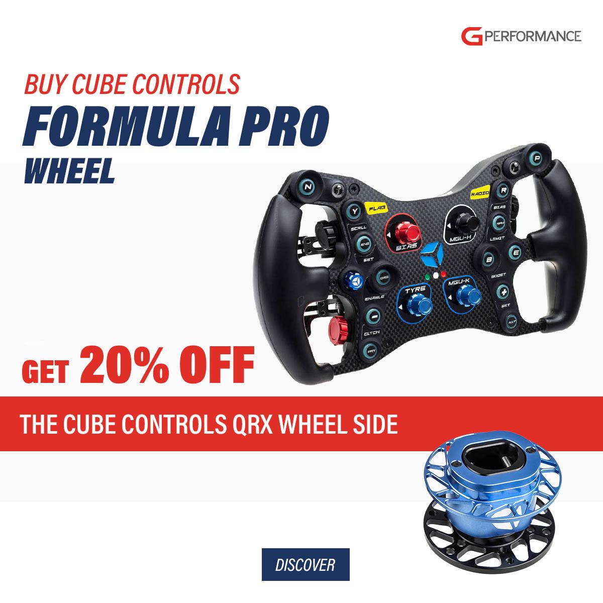 Cube Controls Formula Pro USB + QRX wheel side bundle discount - G-Performance