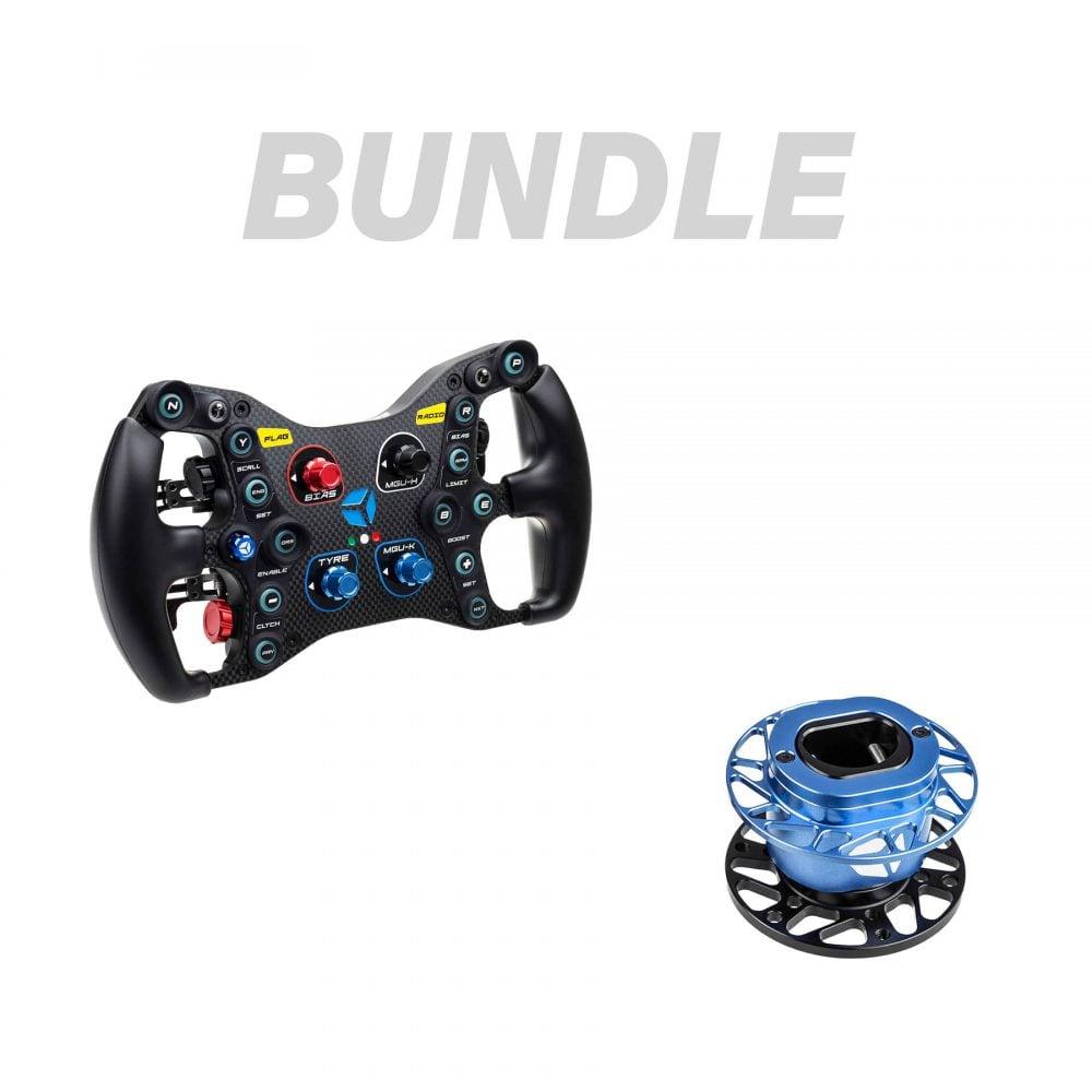 shop.gperformance.eu - Bundle - Cube Controls Formula Pro USB + QRX wheel side - G-Performance