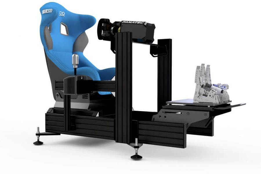 P1-X sim racing cockpit - Black -Wheel deck - with accessories 4